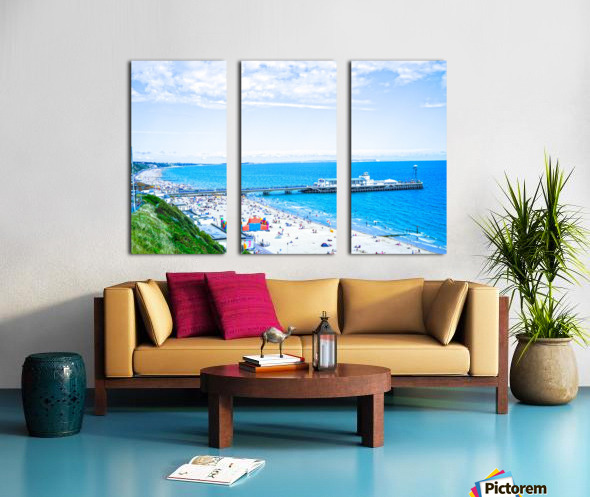 Snaphot in Time Bournemouth Split Canvas print