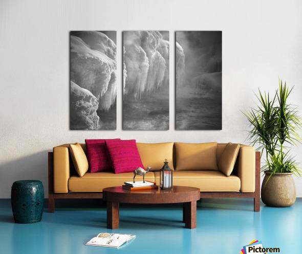 Winter River Smoke Split Canvas print