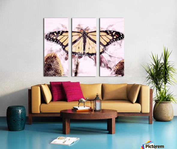 Monarch Butterfly Split Canvas print