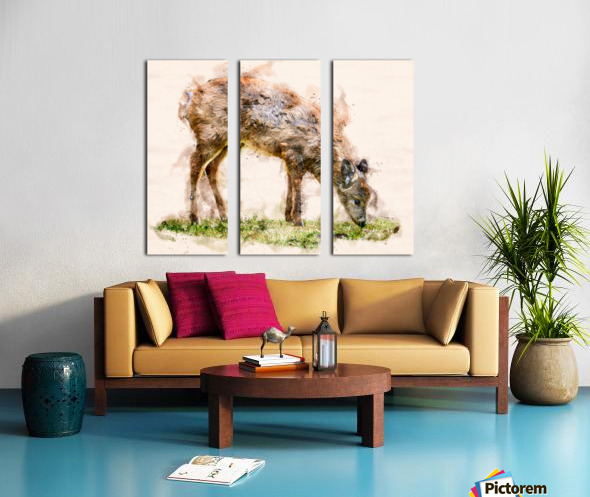 White Tail Deer Split Canvas print