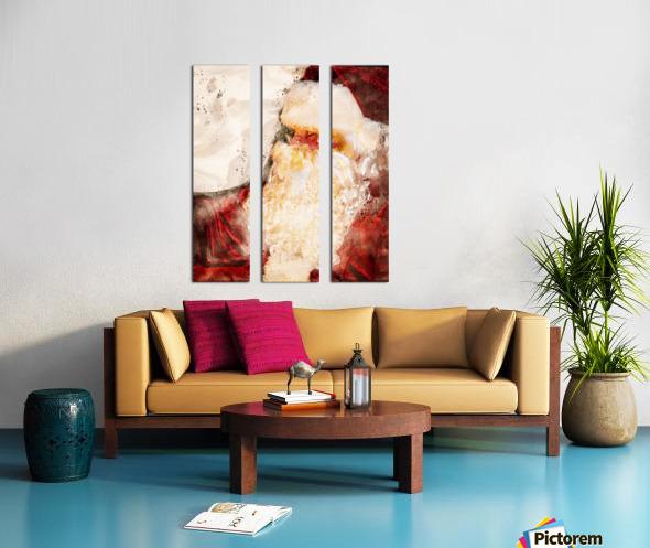 Santa Claus Christmas Split Canvas print