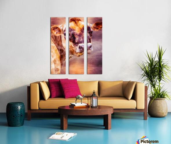 Beautiful Dairy Cow Split Canvas print