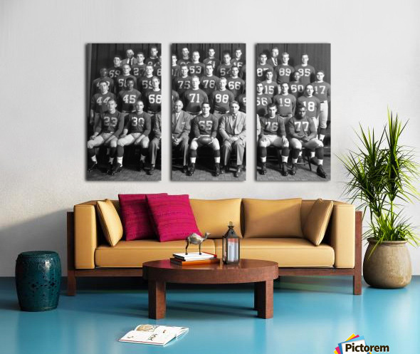 1954 University of Michigan Football Team Photo Split Canvas print