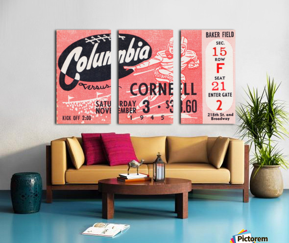 1945 Columbia vs. Cornell Split Canvas print