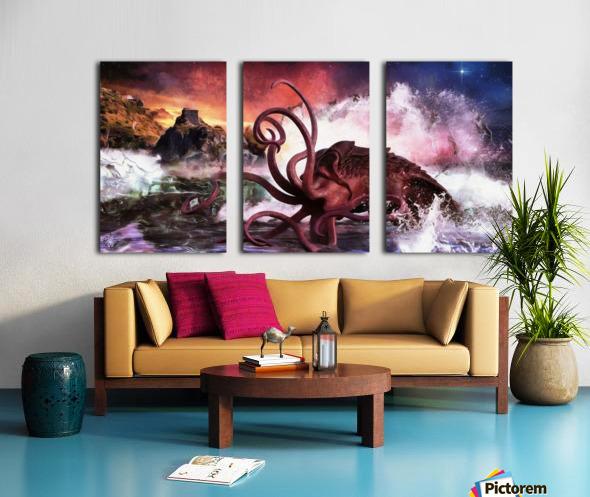 Kraken Bay Split Canvas print