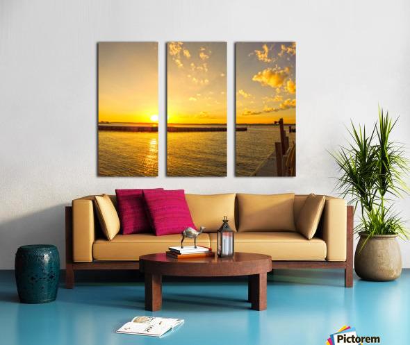 Low Country Sunset South Carolina Split Canvas print