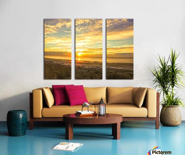 Sunrise in the Carolinas Split Canvas print