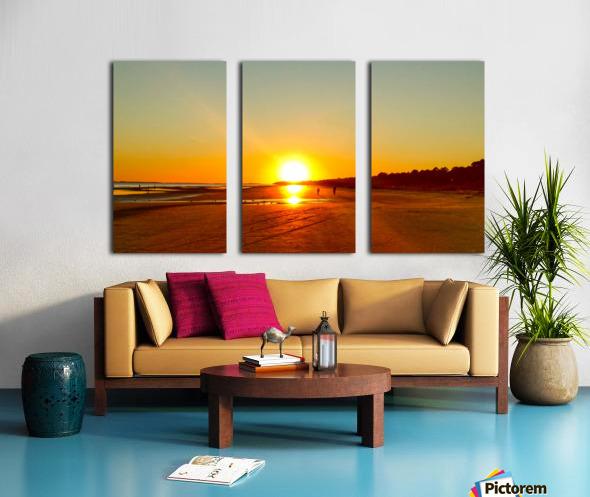 Sunset at the Atlantic Shore Split Canvas print