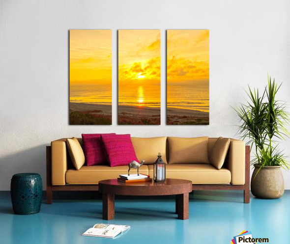 Sunrise over the Atlantic Split Canvas print