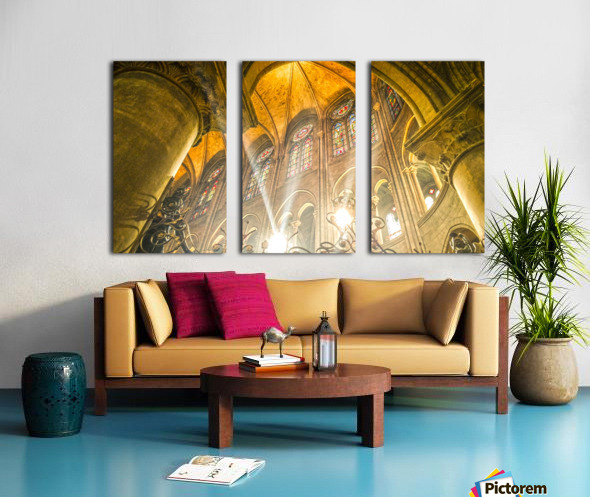 Divine Light Split Canvas print