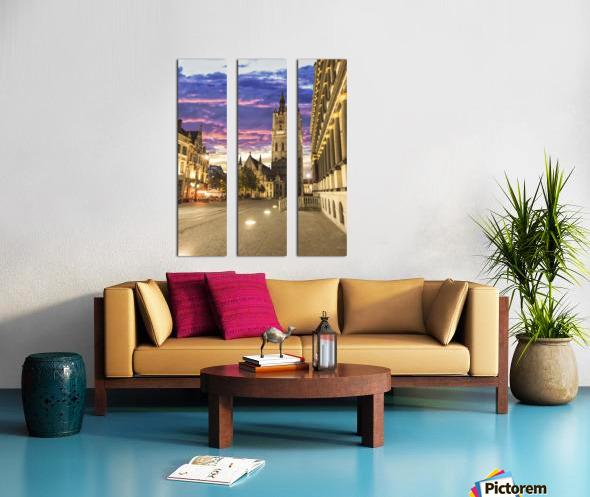Sunset in Belgium Split Canvas print