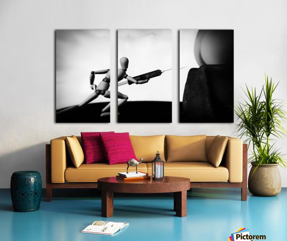 Lethal Injection Split Canvas print