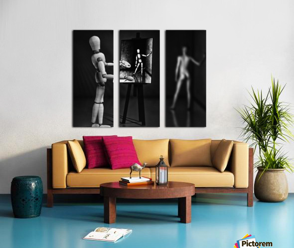 Nude Model Split Canvas print