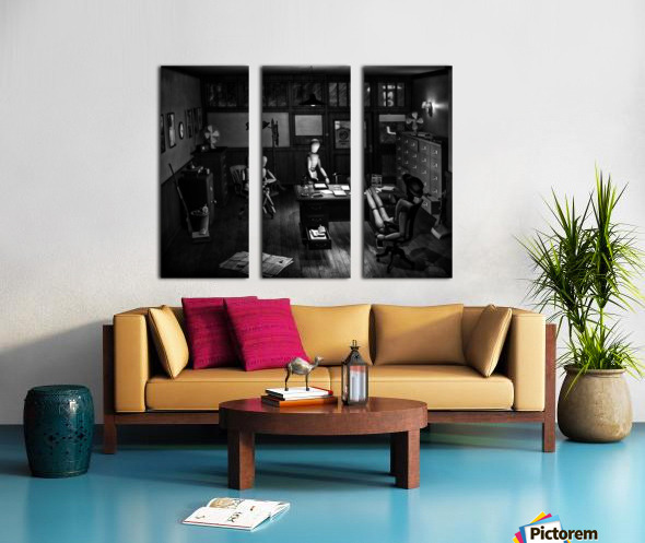 Asking The Private Eye For Help Split Canvas print