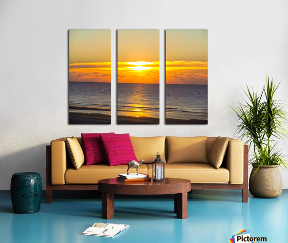 Blue Morning Sunrise Split Canvas print