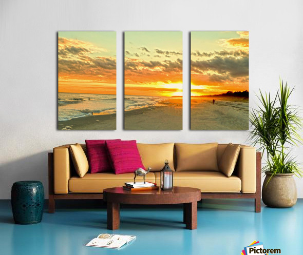 The Carolina Sunset Split Canvas print