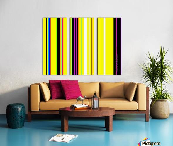 Color Bars 2 Split Canvas print