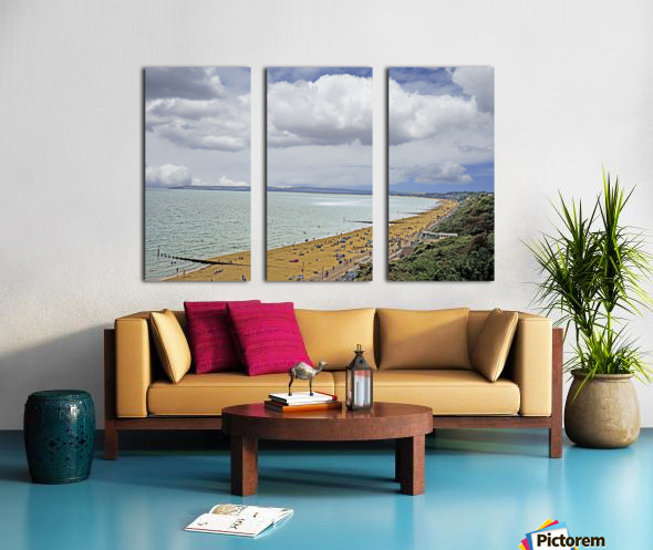 At the Beach in Southern England Split Canvas print