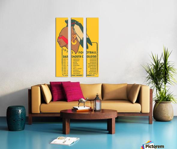 1935 Dartmouth Indians Football Poster Split Canvas print