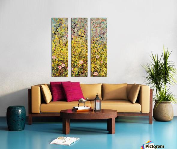 Symphony in Yellow Panel 1 Split Canvas print