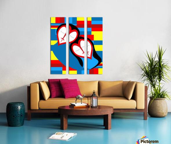 Hearts in Love Split Canvas print