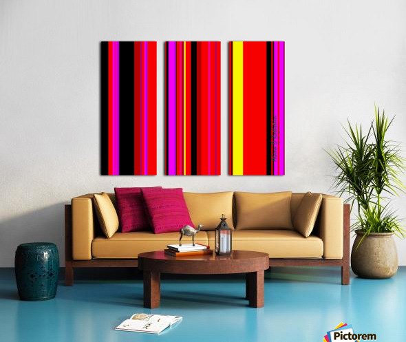 Color Bars 1 Split Canvas print