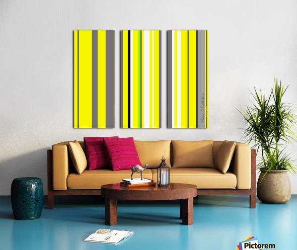 Color Bars 3 Split Canvas print