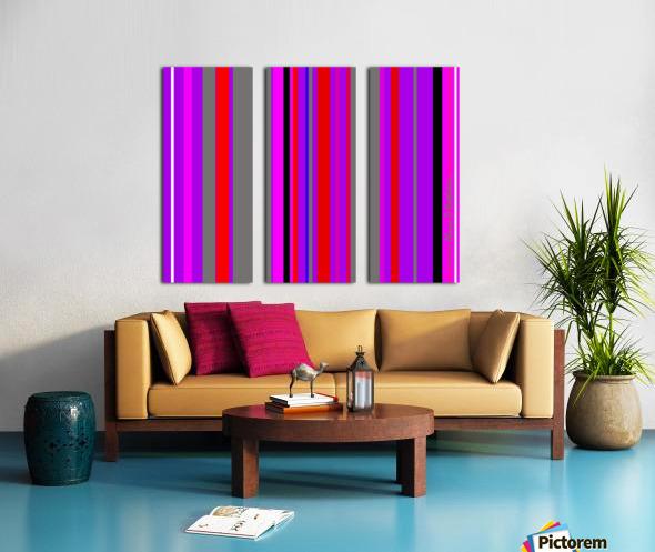 Color Bars 4 Split Canvas print