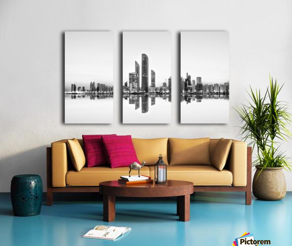 Abu Dhabi Urban Reflection Split Canvas print