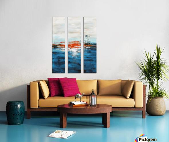 High tide IV Split Canvas print