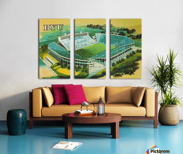 1982 BYU Cougar Stadium Art Split Canvas print