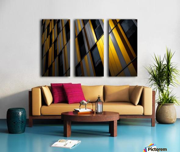 Yellow wall Split Canvas print