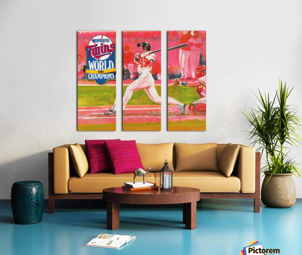 1988 Minnesota Twins Baseball Art Split Canvas print