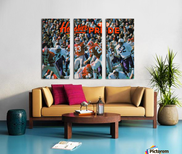 1979 Indiana Hoosiers Football Art Split Canvas print