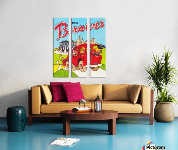 1980 Atlanta Braves Poster Split Canvas print