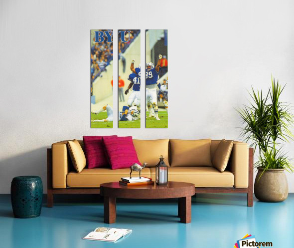 1986 BYU Cougars Football Poster Split Canvas print