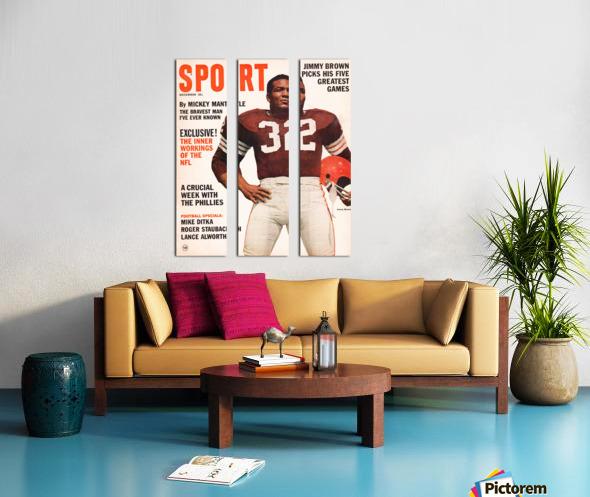 1964 Sport Magazine Jim Brown Cover Art Split Canvas print