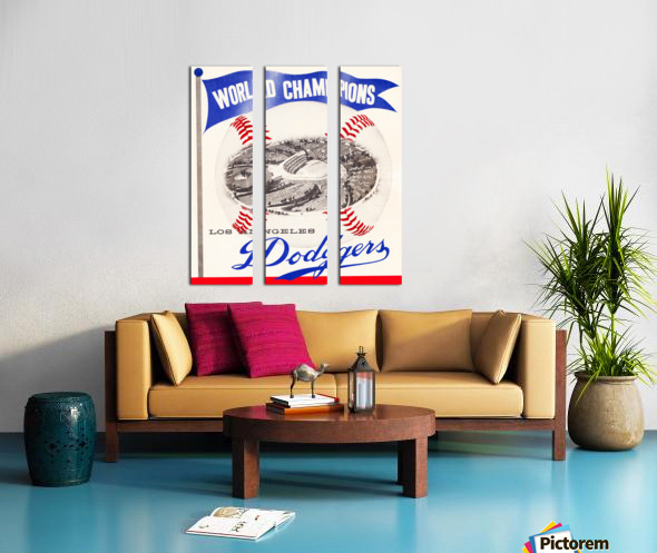 1960 Los Angeles Dodgers Baseball Art Split Canvas print