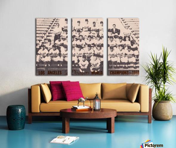 1959 Los Angeles Dodgers Team Photo Split Canvas print