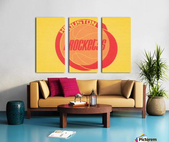 1972 Houston Rockets Art Split Canvas print