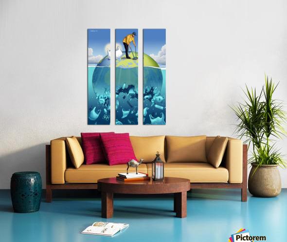 Clean the Planet Split Canvas print