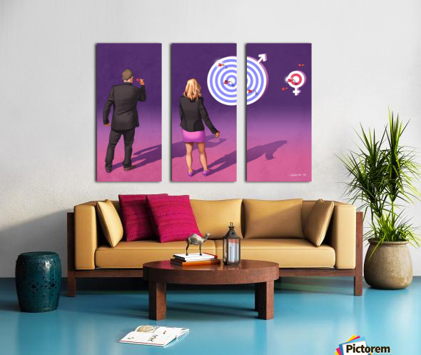 Women and Men Split Canvas print