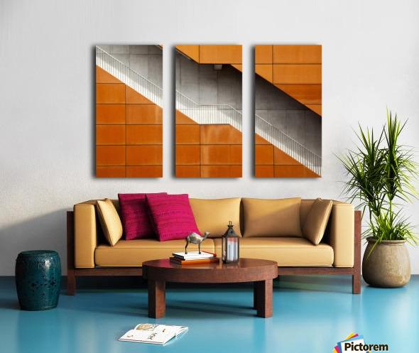 Steel Split Canvas print