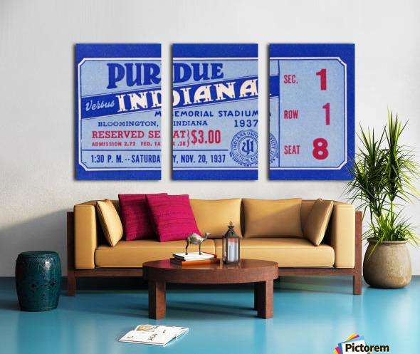 1937 Indiana vs. Purdue Ticket Stub Art Split Canvas print