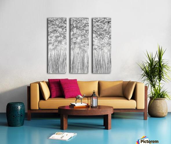 Parallelism Split Canvas print