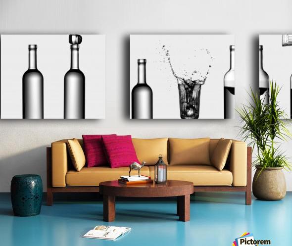 bottles game by Valeriy Kasmasov  Split Canvas print