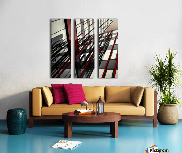 red lines by Gilbert Claes  Split Canvas print