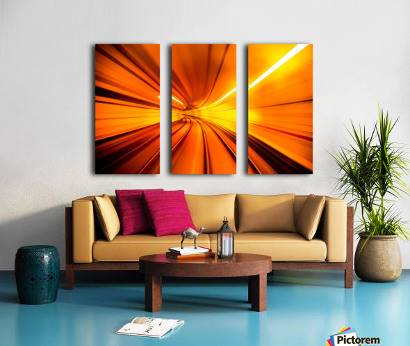 Wormhole Split Canvas print