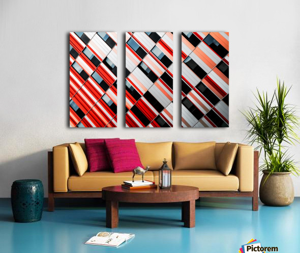 Mo-zA Split Canvas print