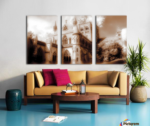 The cathedral Split Canvas print